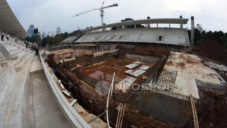 Kondisi terkini renovasi venue Aquatic.