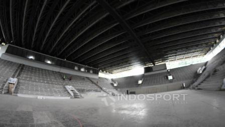 Kondisi terkini renovasi venue Istora Senayan jelang Asian Games 2018.