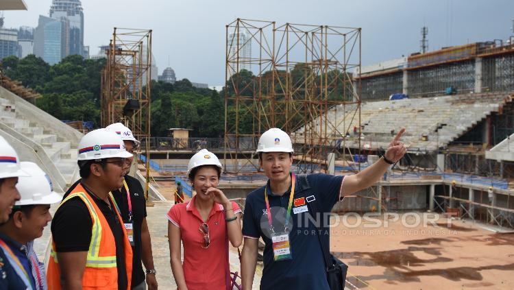 Peninjauan langsung perwakilan Dewan Olimpiade Asia ke beberapa venue yang dipersiapkan untuk Asian Games 2018.