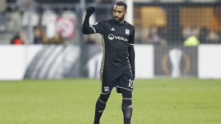 Penyerang  Olympique Lyonnais, Alexandre Lacazette. - INDOSPORT
