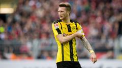 Indosport - Marco Reus pada laga saat melawan Bayer Leverkusen.