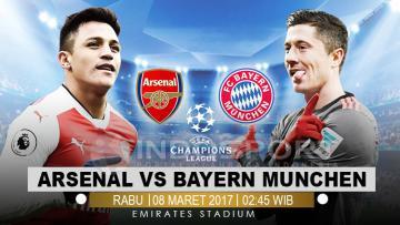 Arsenal vs Bayern Munchen.