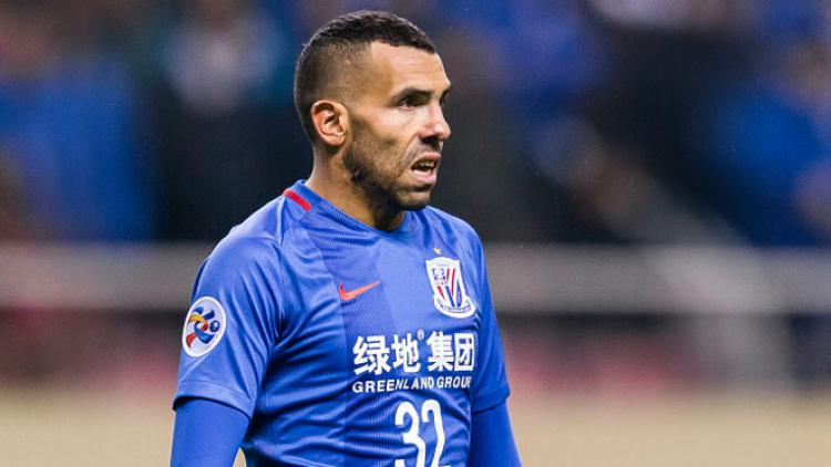 Carlos Tevez (Shanghai Shenhua FC). Copyright: Power Sport Images/Getty Images