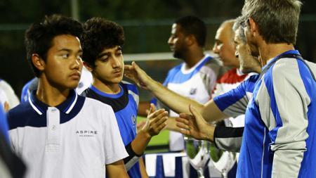 Andri Syahputra saat bermain untuk Aspire Academy Qatar. - INDOSPORT