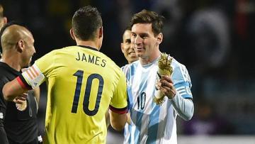 Messi dan James bersua di Copa America 2015.