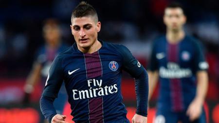 Gelandang Paris Saint-Germain (PSG) dan Timnas Italia, Marco Verratti. - INDOSPORT
