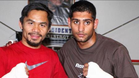 Manny Pacquiao vs Amir Khan. - INDOSPORT