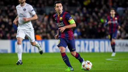 Gelandang legendaris Xavi Hernandez saat berseragam Barcelona di LaLiga Spanyol. - INDOSPORT