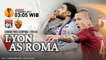 Prediksi Lyon vs AS Roma.