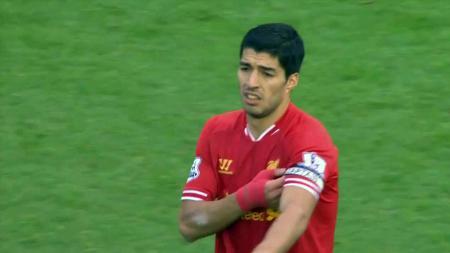 Luis Suarez saat di Liverpool. - INDOSPORT