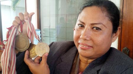 Dyah Renatih, mantan atlet lempar lembing. - INDOSPORT
