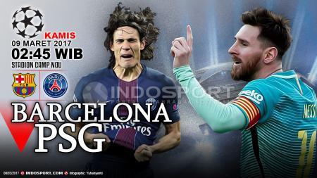 Barcelona vs Paris Saint-Germain - INDOSPORT