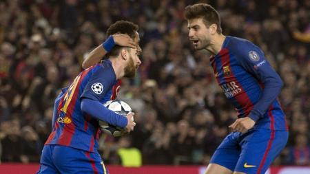 Hubungan Lionel Messi dan Gerard Pique dikabarkan tengah memanas setelah keduanya tidak mau saling sapa di Barcelona. - INDOSPORT