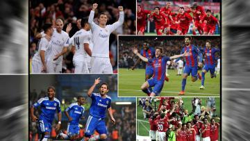Aksi Comeback para klub elite Eropa di pentas Liga Champions.