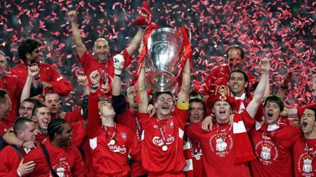Liverpool salah satu klub yang secara mengejutkan mampu keluar sebagai juara Liga Champions. - INDOSPORT
