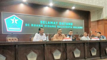 Rapat Koordinasi Tur Aremania ke Bogor bersama Walikota Malang dan perwakilan manajemen Arema, Muspika, Muspida dan perwakilan Aremania.