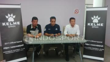 PSM Makassar memperkenalkan sponsor jersey mereka, Kelme.
