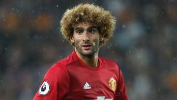 Gelandang Manchester United, Marouane Fellaini.