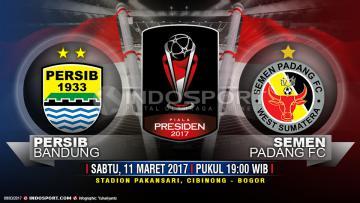 Susunan pemain Persib Bandung vs Semen Padang.