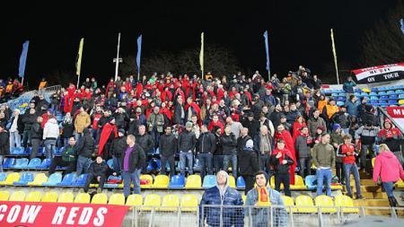 Para pendukung Manchester United di Rostov. - INDOSPORT