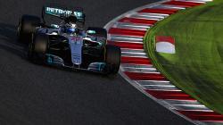 Pembalap Mercedes, Valtteri Bottas ketika menggeber mobilnya.