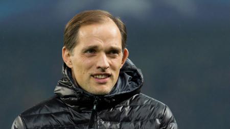 Pelatih Borussia Dortmund, Thomas Tuchel dalam laga melawan Benfica.