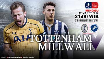 Prediksi Tottenham vs Millwall.