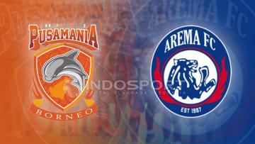 Susunan pemain Pusamania Borneo FC vs Arema FC.