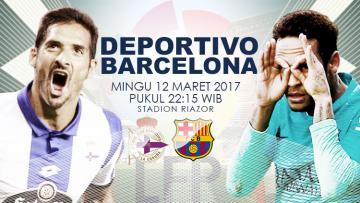 Prediksi Deportivo La Coruna vs Barcelona.