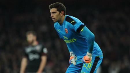 Kiper ketiga Arsenal, Emiliano Martinez. - INDOSPORT