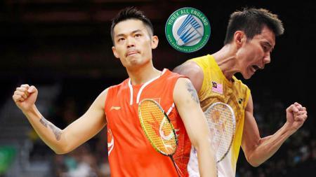 Lin Dan dan Lee Chong Wei. - INDOSPORT