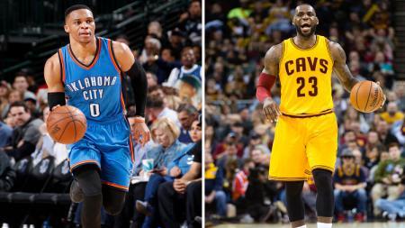 Russell Westbrook vs LeBron_James bersaing untuk meraih MVP. - INDOSPORT