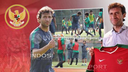 Pelatih Timnas Indonesia Senior dan U-22, Luis Milla. - INDOSPORT