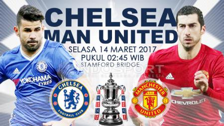Chelsea vs Manchester United. - INDOSPORT