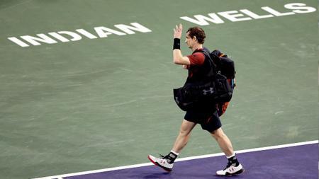 Andy Murray langsung angkat koper dari Indian Wells 2017. - INDOSPORT