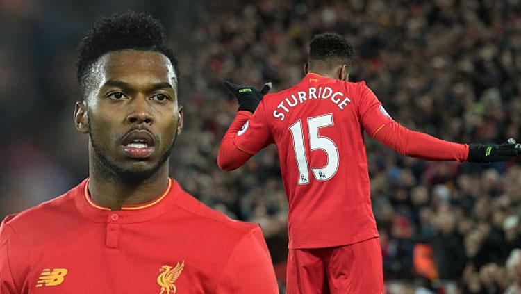 Daniel Sturridge penyerang Liverpool. Copyright: PAUL ELLIS/AFP/Getty Images
