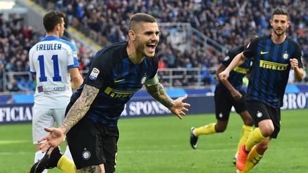 Striker sekaligus kapten Inter Milan, Mauro Icardi. - INDOSPORT