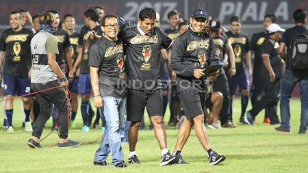 Perayaan gelar juara Piala Presiden 2017 oleh Arema FC. - INDOSPORT