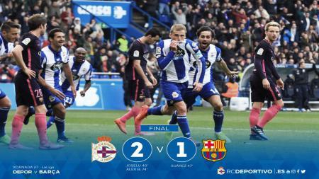 Barcelona kalah dari Deportivo dengan skor 1-2. - INDOSPORT