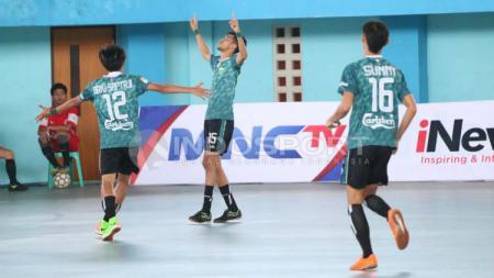 Vamos Mataram selebrasi gol dalam laga kontra Black Steel Manokwari. - INDOSPORT