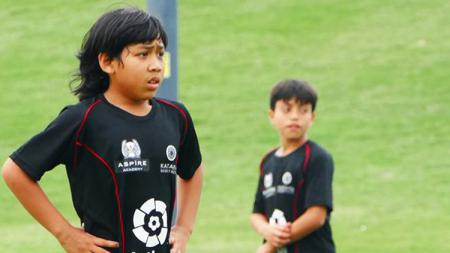 Abdurrahman Iwan saat mengikuti coaching clinic dari La Liga.