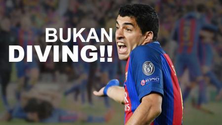 Luis Suarez disebut melakukan diving di menit-menit akhir laga antara Barcelona kontra PSG.