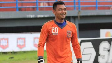 Kiper Pusamania Borneo FC, Wawan Hendrawan.