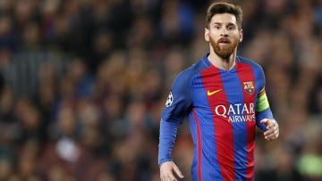 Lionel Messi pada laga saat melawan Paris Saint-Germain.