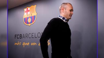 Gelandang serang sekaligus kapten Barcelona, Andres Iniesta.