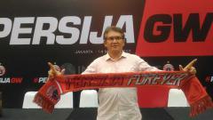 Indosport - Ferry Indra Sjarief saat hadir di peresmian kepemimpinan Persija Jakarta.