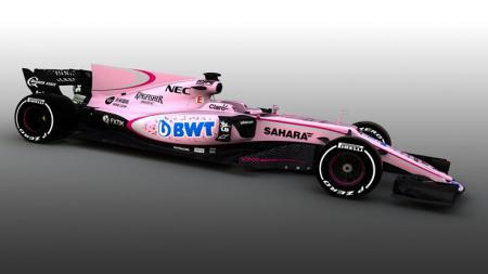 Penampilan mobil anyar Force India untuk musim depan. - INDOSPORT