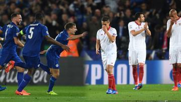 Leicester City gagalkan ambisi Sevilla ke perempatfinal.