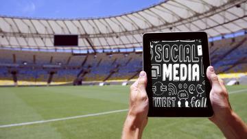 Ilustrasi sosial media dan olahraga.