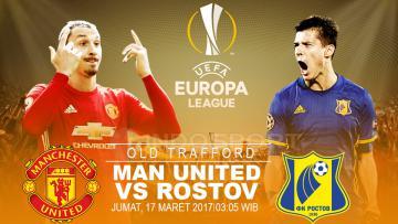 Manchester United menghadapi Rostov di leg kedua Liga Europa 2016/17.